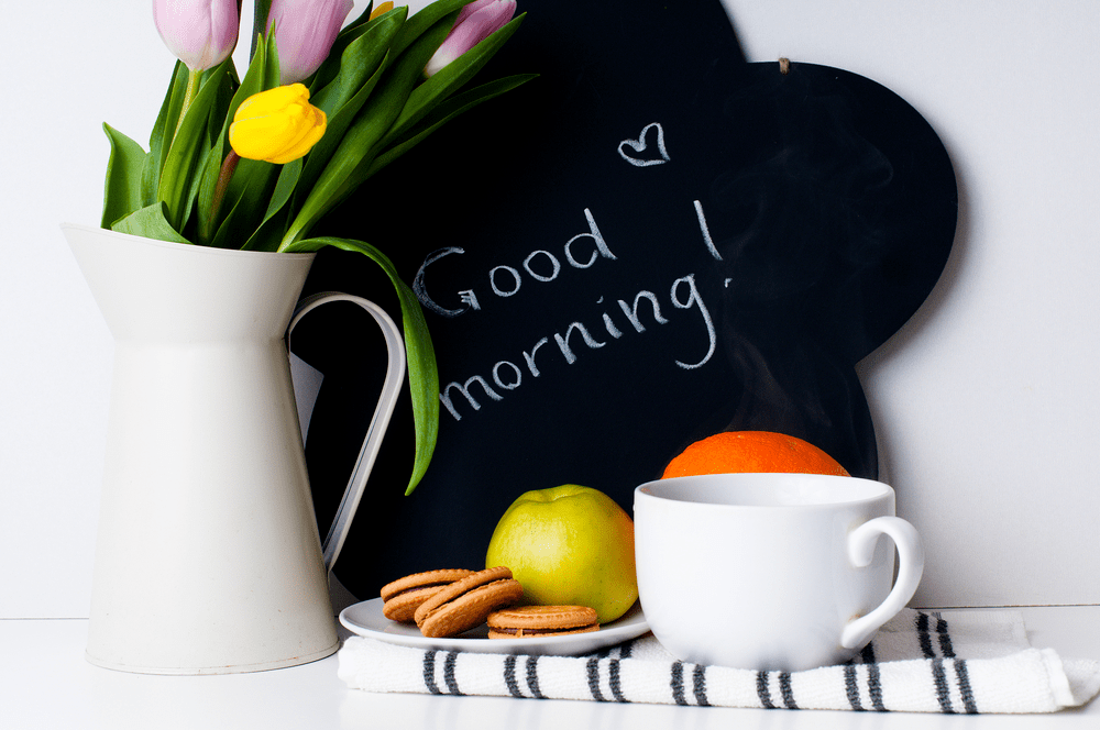 good morning image flowers