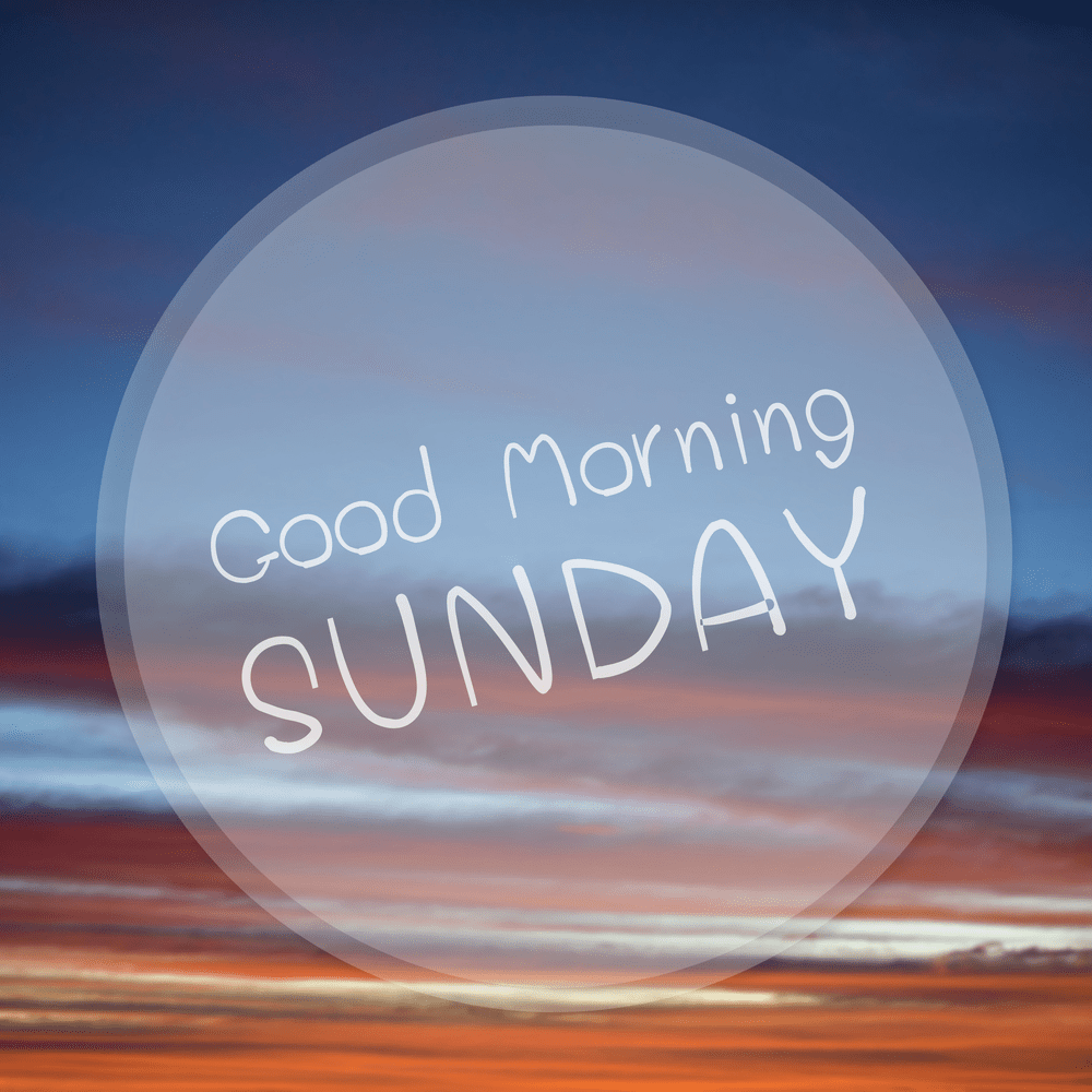 sunday good morning images hd