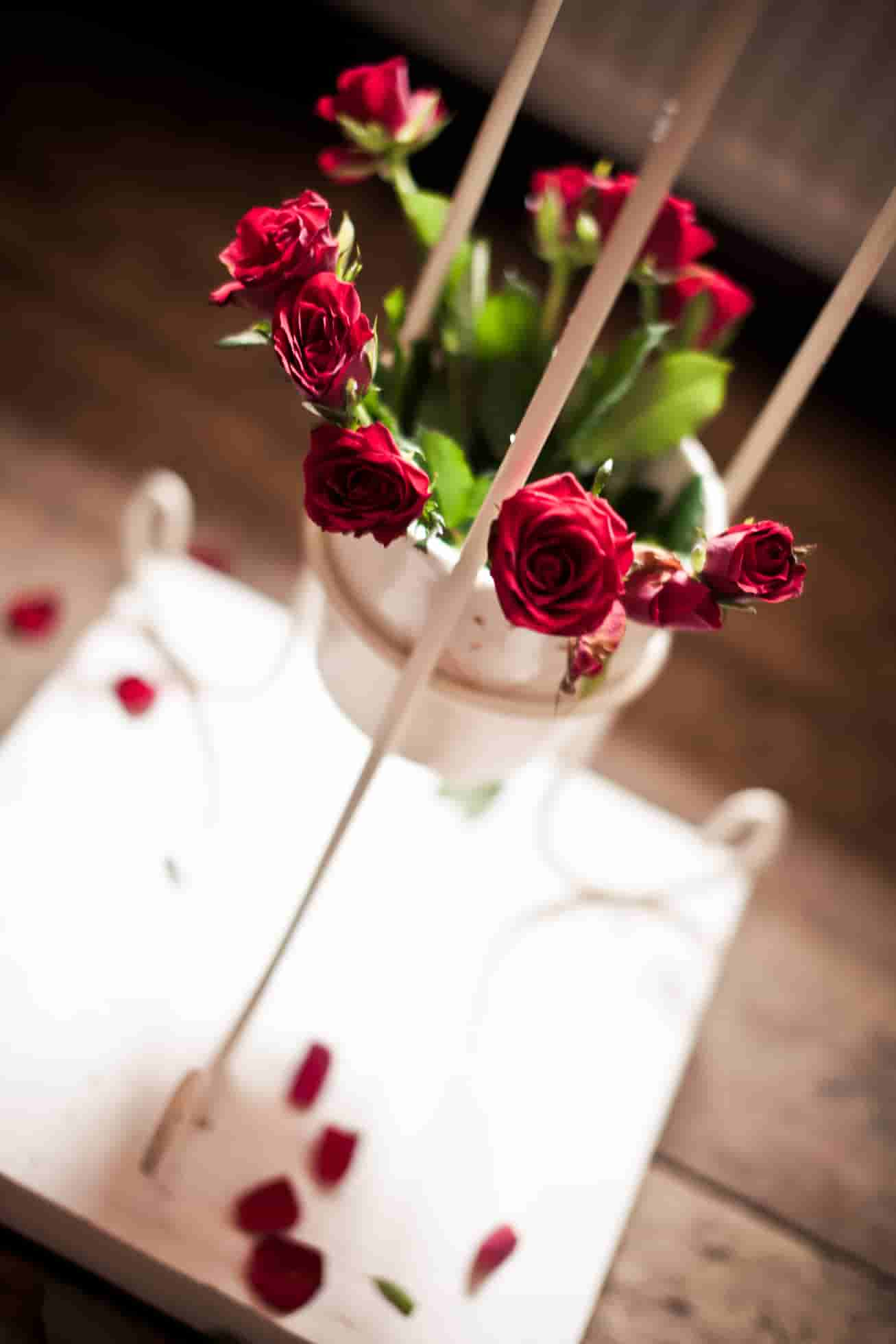 images of red rose bouquets